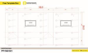 รูปแบบถุงกระดาษฟรี SHOPPING BAG 001