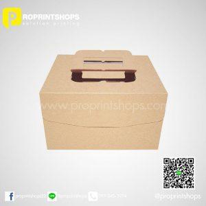 กล่องกระดาษคราฟท์ใส่ข้าว 01